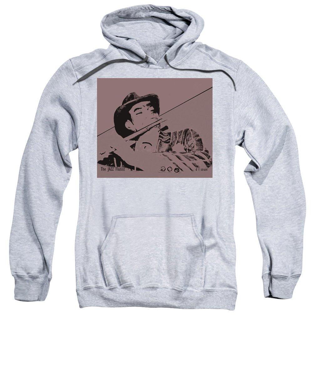 Fineartamerica.com Sweatshirt featuring the painting The Jazz Flutist by Diane Strain