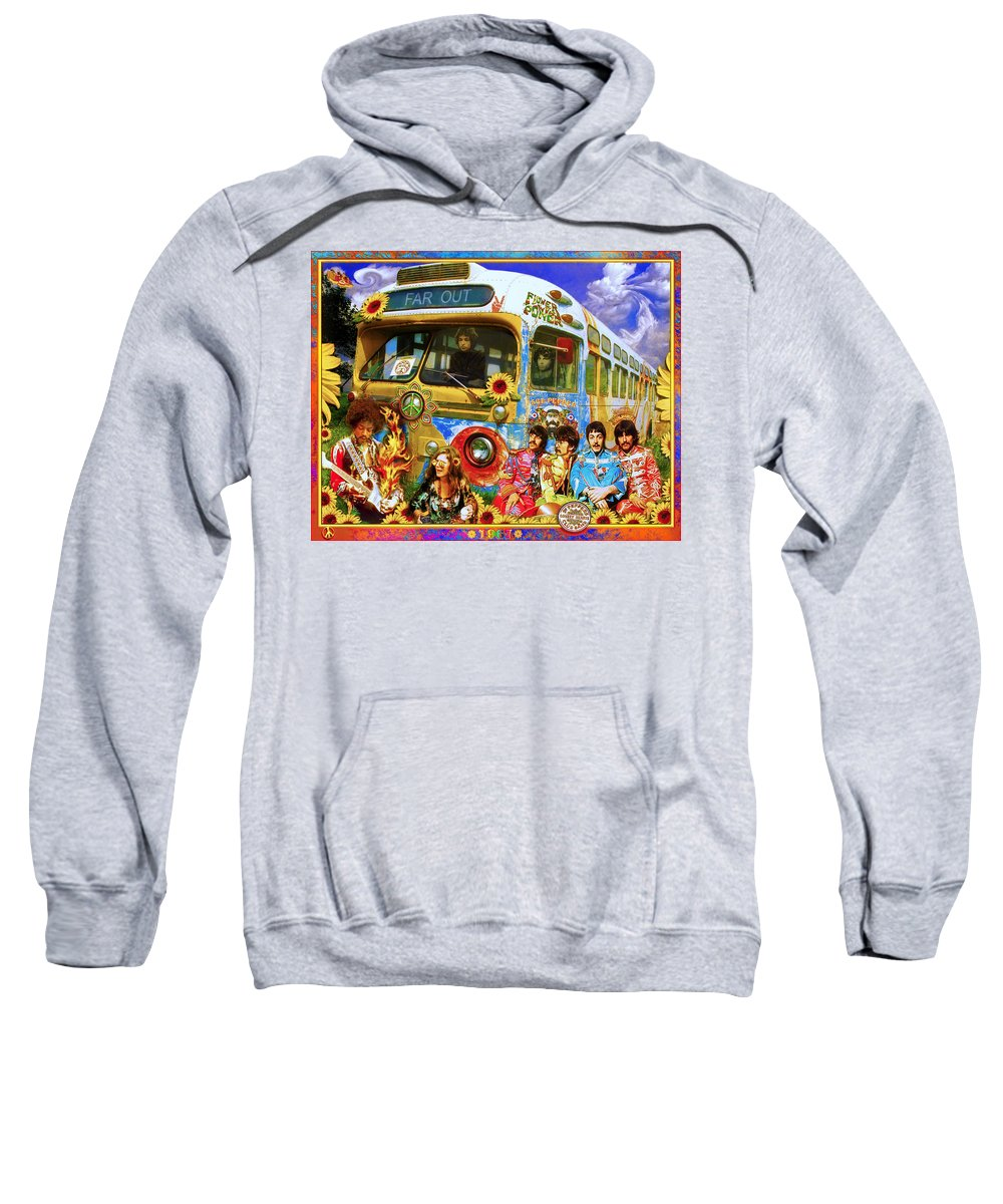 1967 Sweatshirt featuring the photograph 19 Sixty 7 by John Anderson