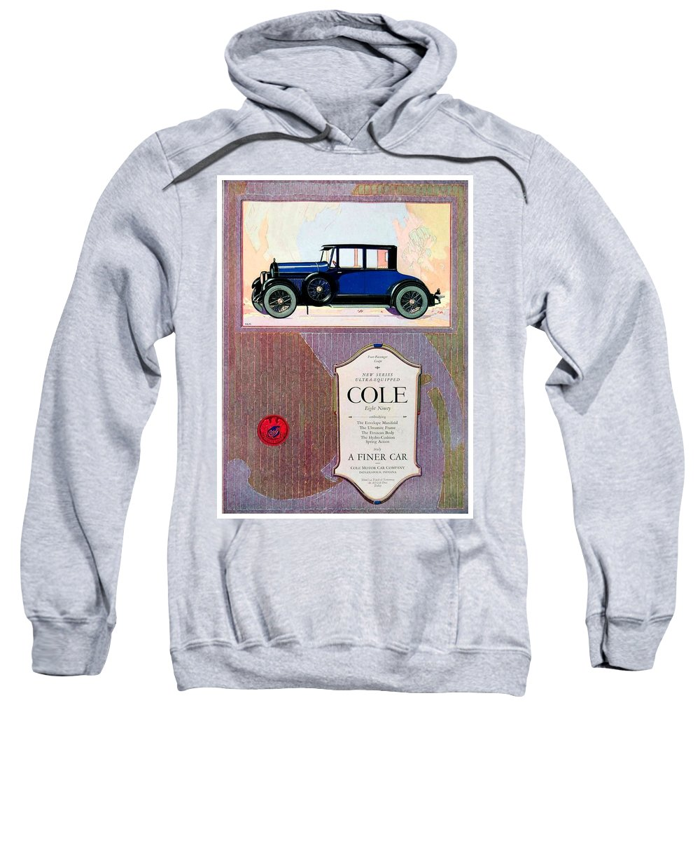 Cole Sweatshirt featuring the digital art 1922 - Cole 890 - Advertisement - Color by John Madison