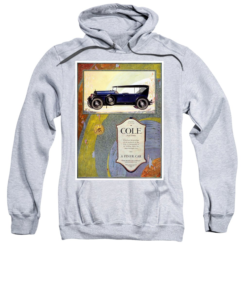 Cole Sweatshirt featuring the digital art 1923 - Cole 890 - Advertisement - Color by John Madison
