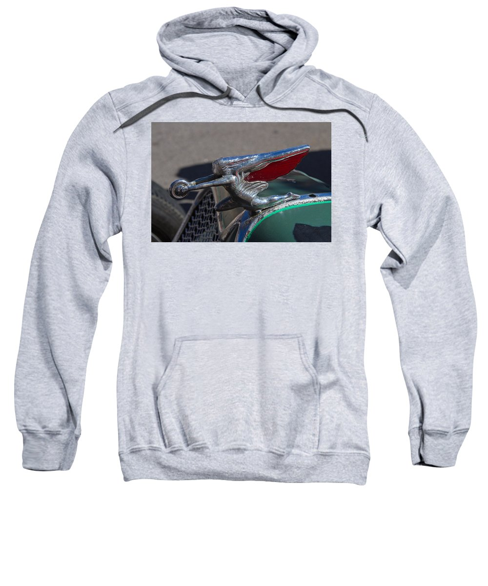 1926 Sweatshirt featuring the photograph 1926 Rat Rod Hood Ornament by Nick Gray