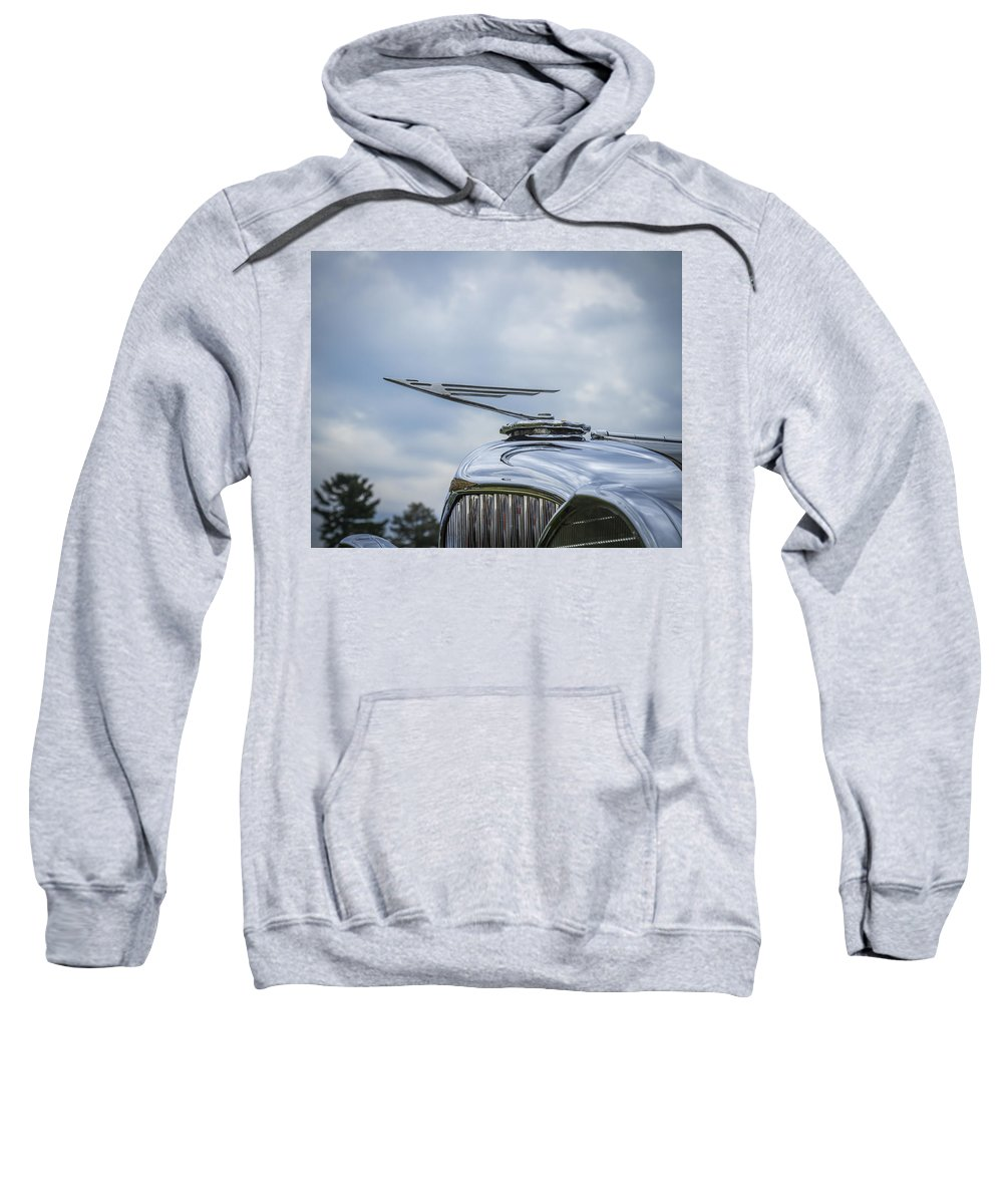 Glenmoor Sweatshirt featuring the photograph 1932 Duesenburg by Jack R Perry