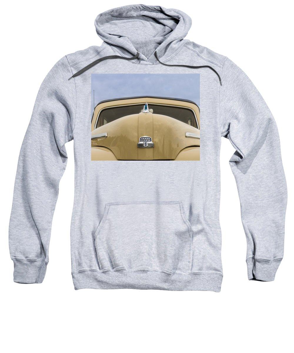 Antique Sweatshirt featuring the photograph 1947 Ford Super Deluxe Wagon by Jack R Perry