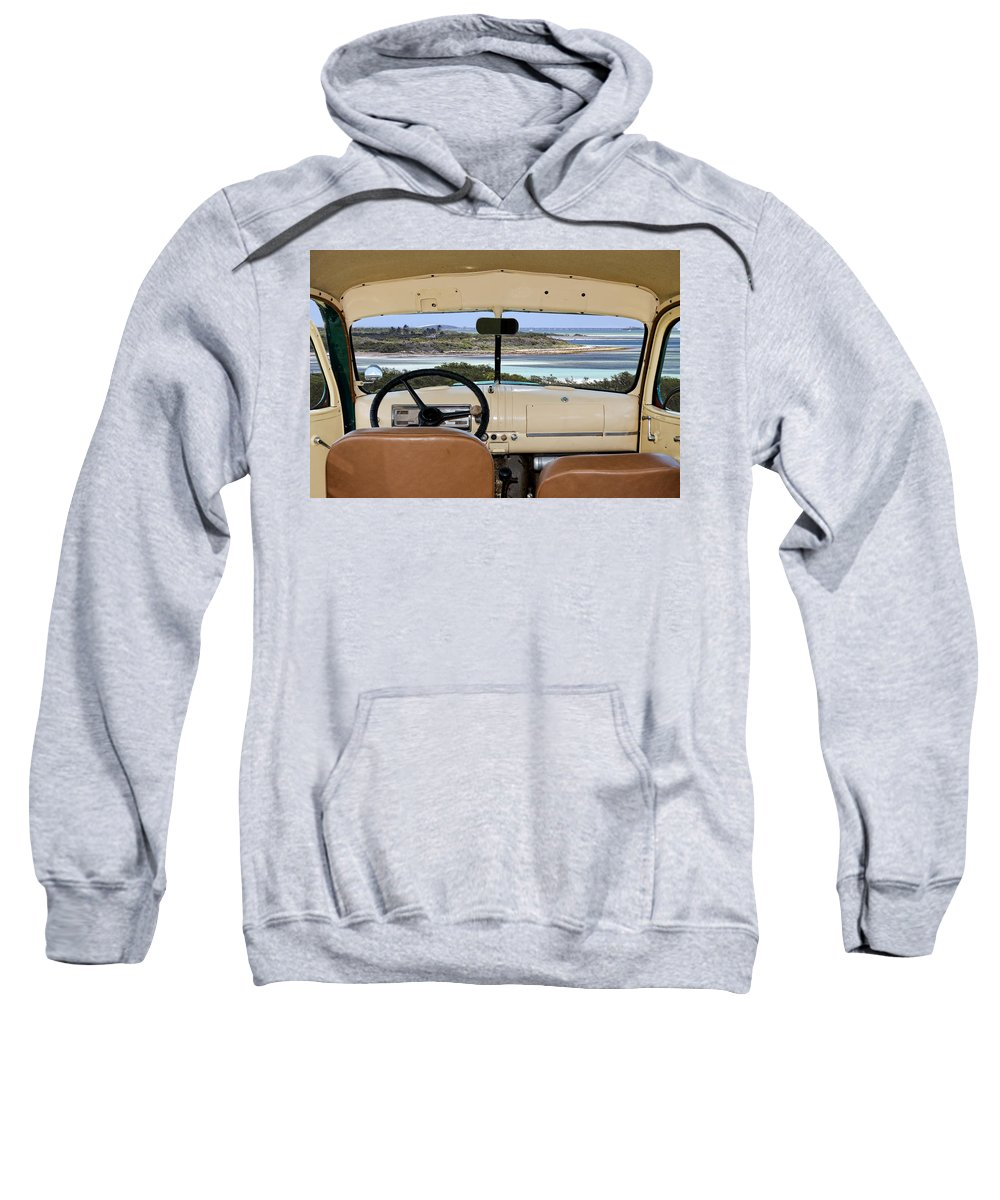 Chevy Sweatshirt featuring the photograph 1947 Suburban by Rudy Umans