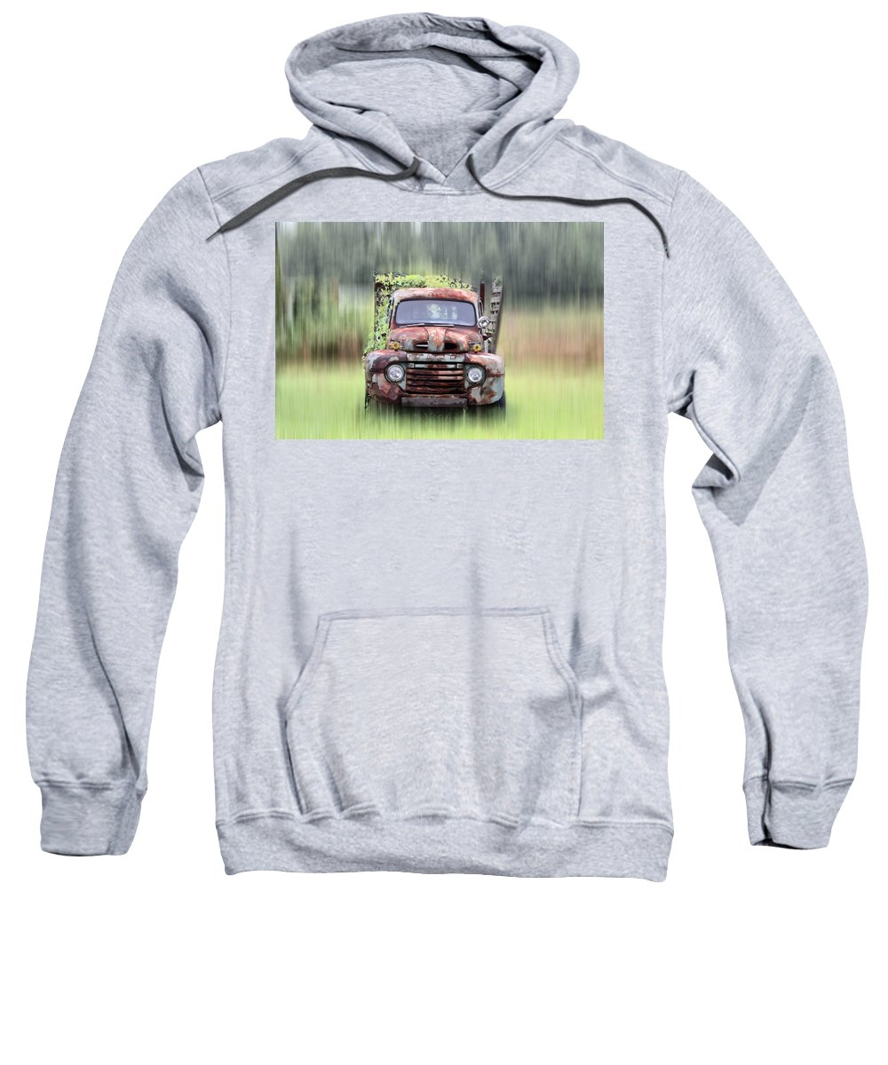 1951 Sweatshirt featuring the photograph 1951 Ford Truck - Found On Road Dead by Bill Cannon
