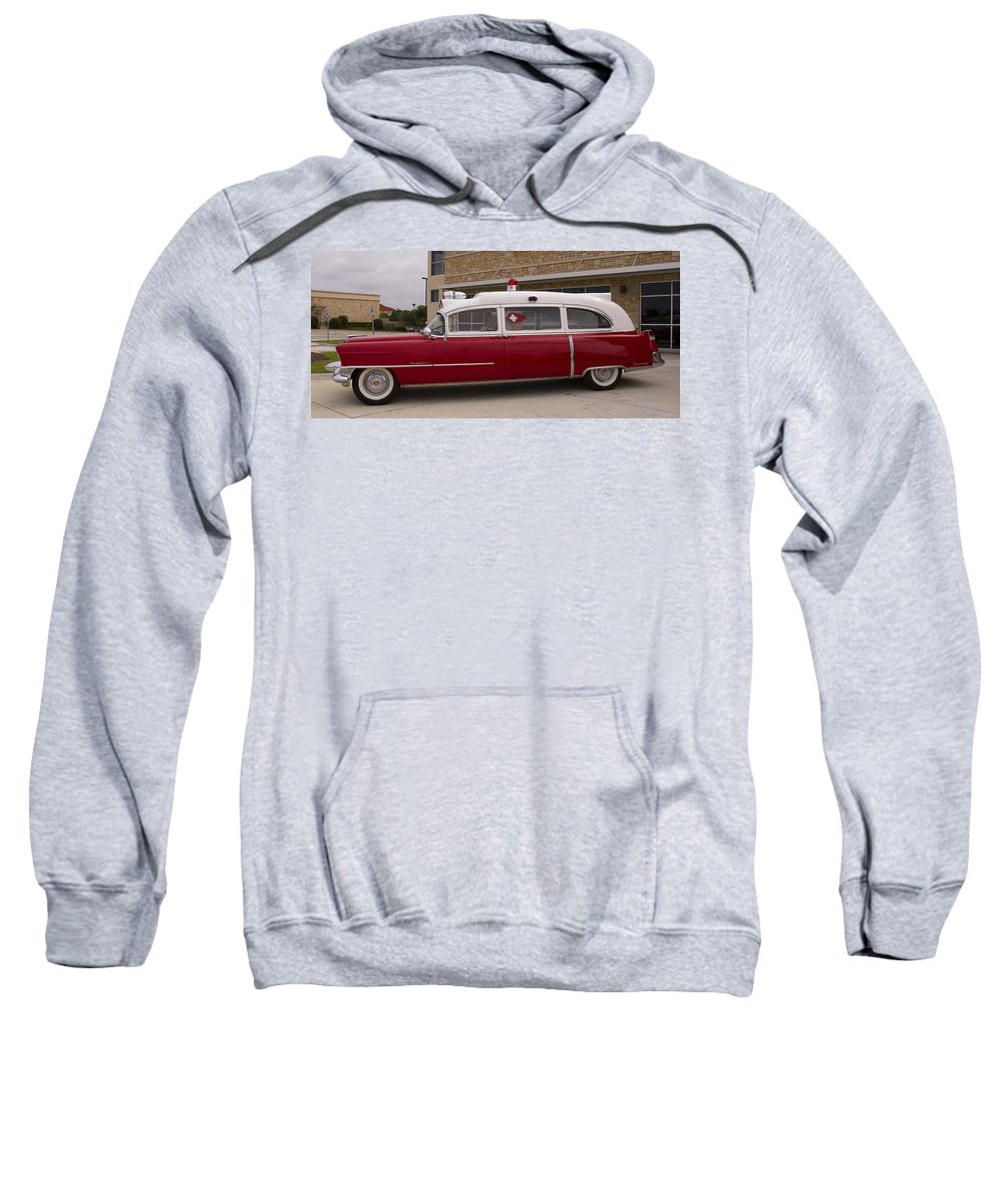 1955 Sweatshirt featuring the photograph 1955 Superior Cadillac Passenger Ambulance by Debby Richards