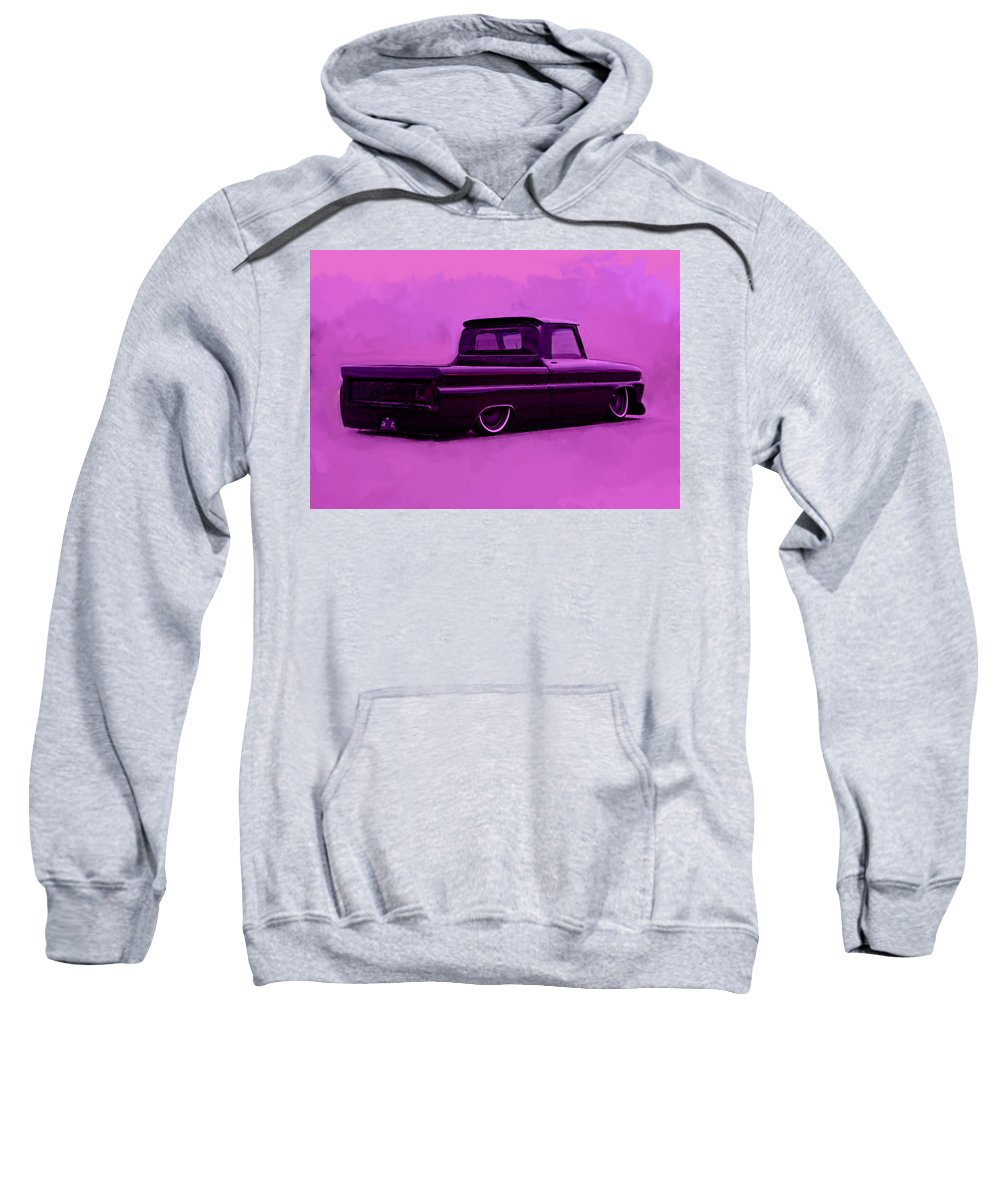 Low Rider Sweatshirt featuring the painting 1964 Chevy Low Rider by Brian Reaves