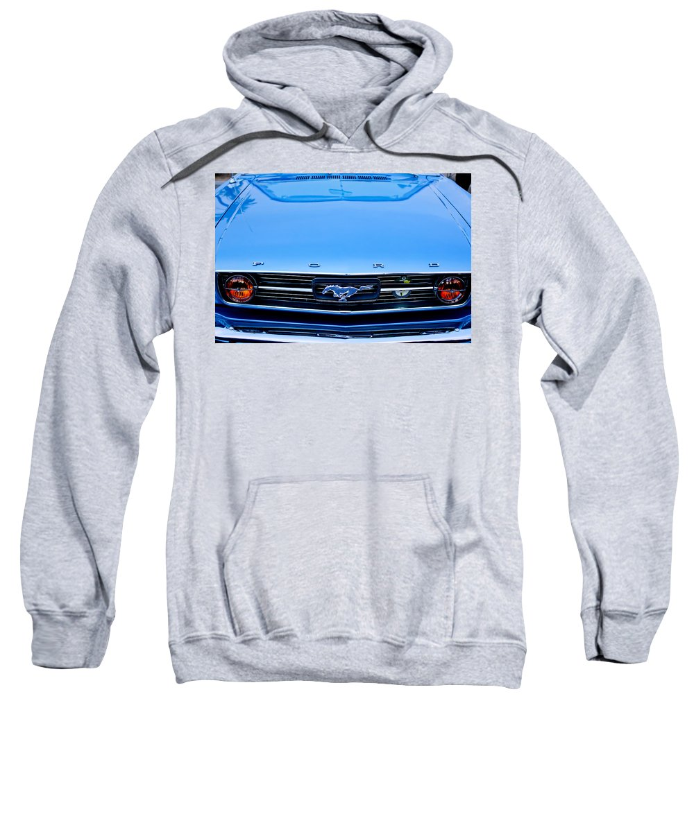 1966 Ford Mustang Sweatshirt featuring the photograph 1966 Ford Mustang Front End by Jill Reger