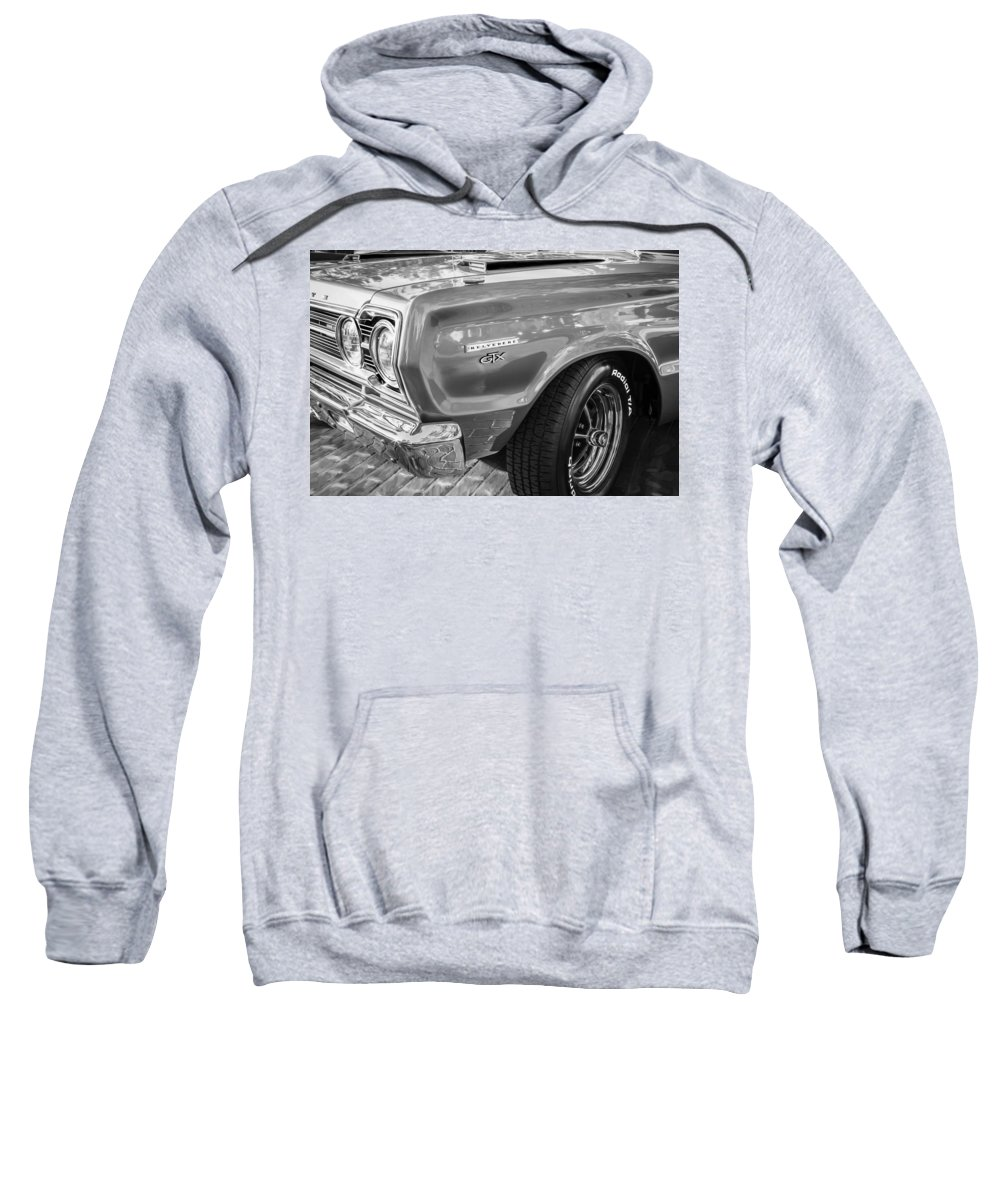 1967 Plymouth Sweatshirt featuring the photograph 1967 Plymouth Belvedere Gtx 440 Painted Bw  by Rich Franco
