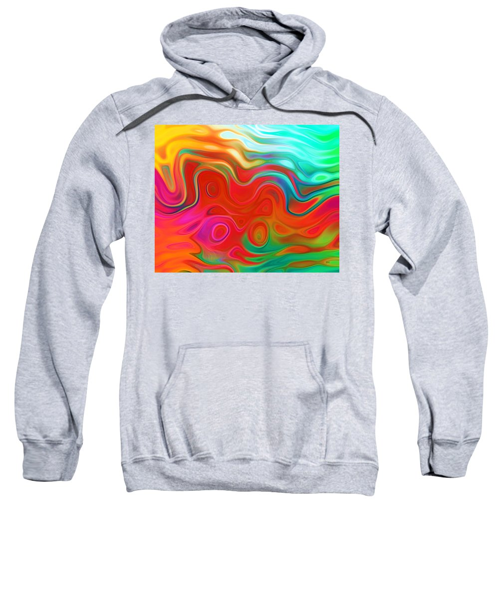 Sweatshirt featuring the digital art 1997021 by Studio Pixelskizm
