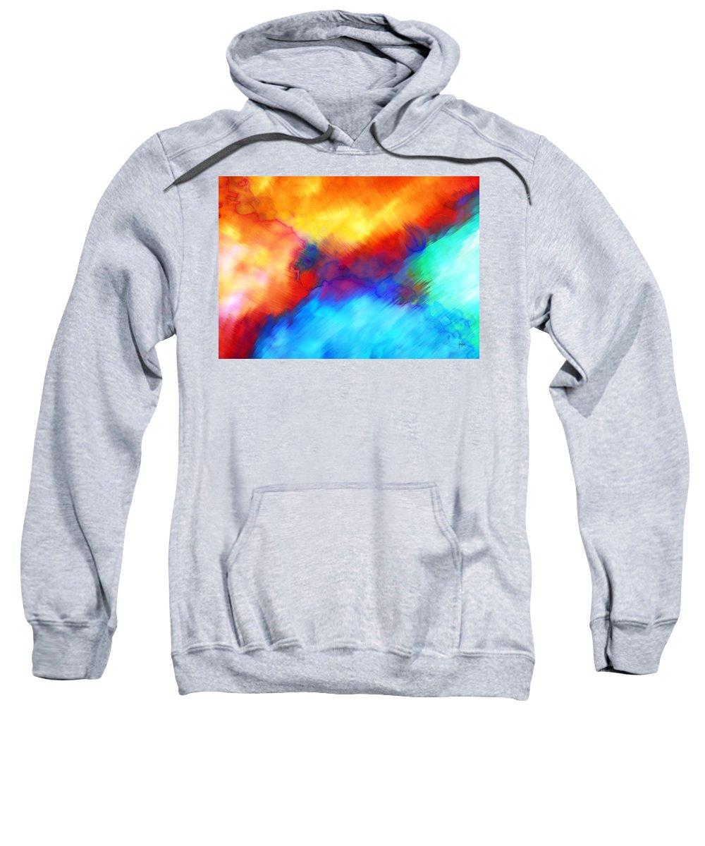 Sweatshirt featuring the digital art 1998016 by Studio Pixelskizm