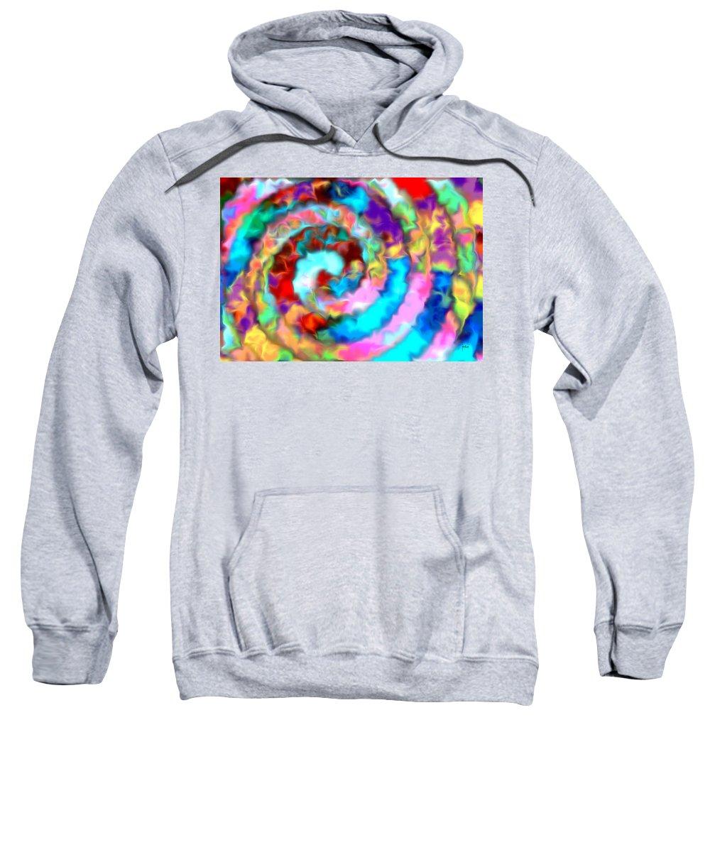 Sweatshirt featuring the digital art 1998025 by Studio Pixelskizm