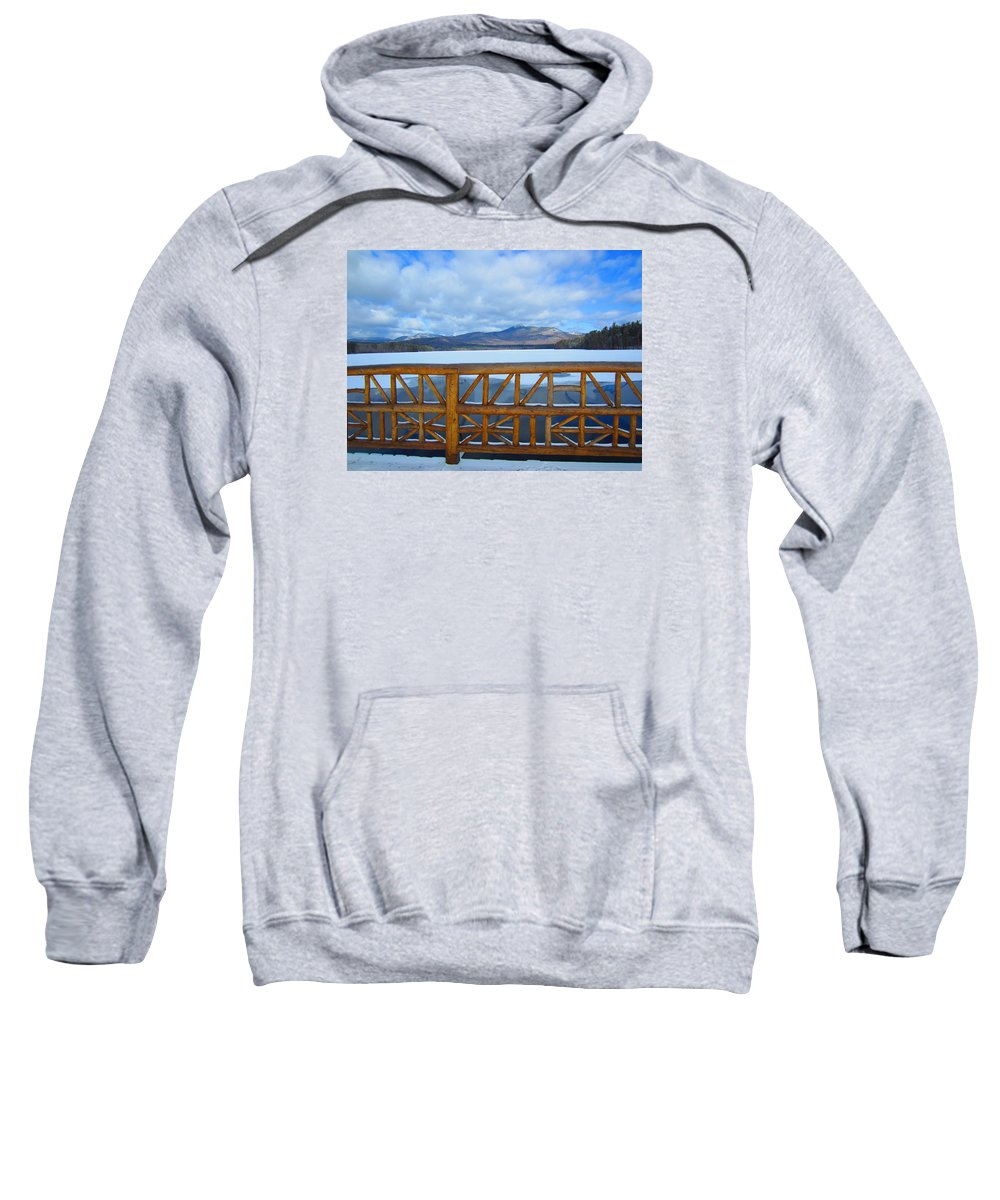 Nh Sweatshirt featuring the photograph Winter At Chocorua Lake by Jeffrey Akerson