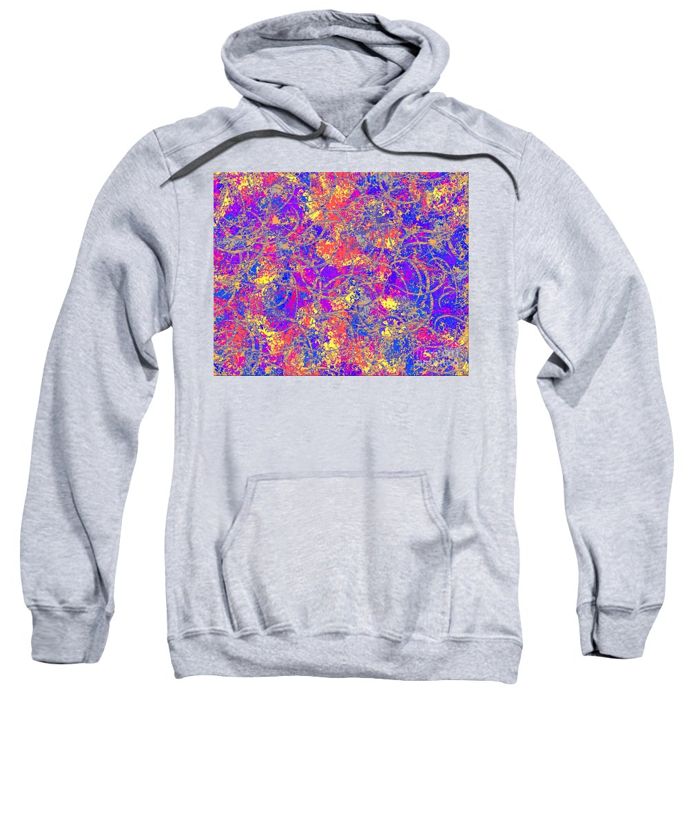 Abstract Sweatshirt featuring the digital art 0147 Abstract Thought by Chowdary V Arikatla