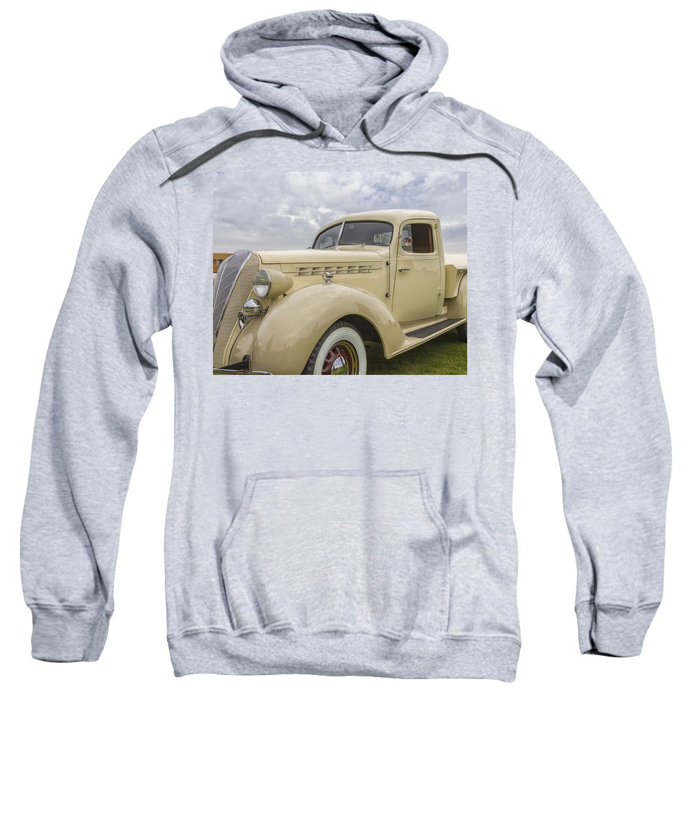 Antique Sweatshirt featuring the photograph 1936 Hudson Terraplane Truck by Jack R Perry