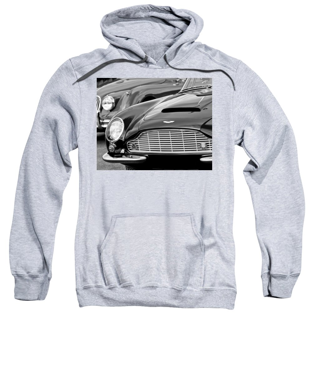 1965 Aston Martin Db6 Short Chassis Volante Sweatshirt featuring the photograph 1965 Aston Martin Db6 Short Chassis Volante by Jill Reger