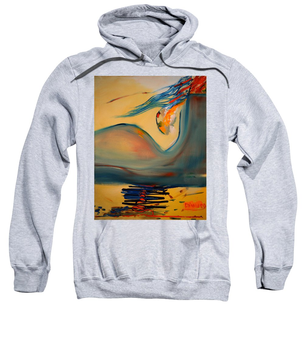 Expressionist Sweatshirt featuring the painting A Delicate Balance by Jack Diamond