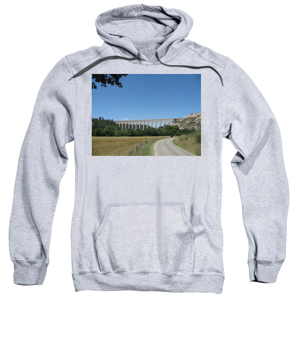 Aqueduct Sweatshirt featuring the photograph Aqueduct Roquefavour by Christiane Schulze Art And Photography
