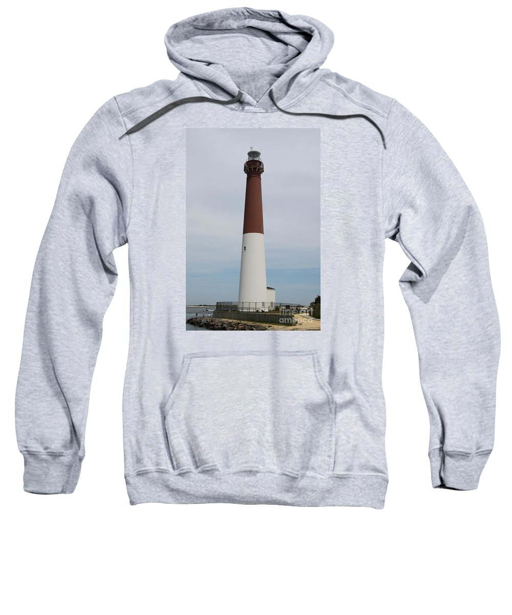 Lighthouse Sweatshirt featuring the photograph Barnegat Light New Jersey by Christiane Schulze Art And Photography