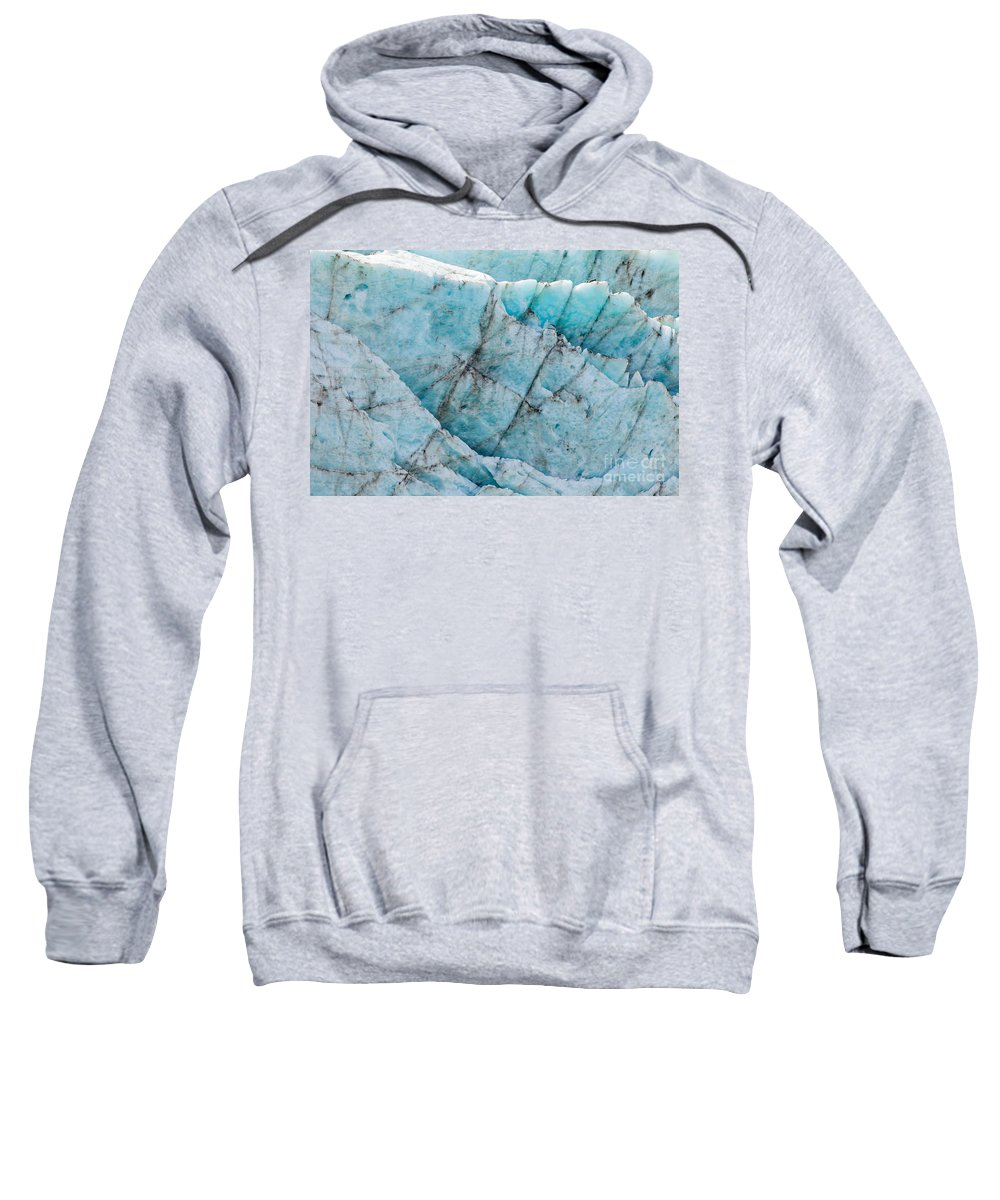 Abstract Sweatshirt featuring the photograph Blue Glacier Ice Background Texture Pattern by Stephan Pietzko