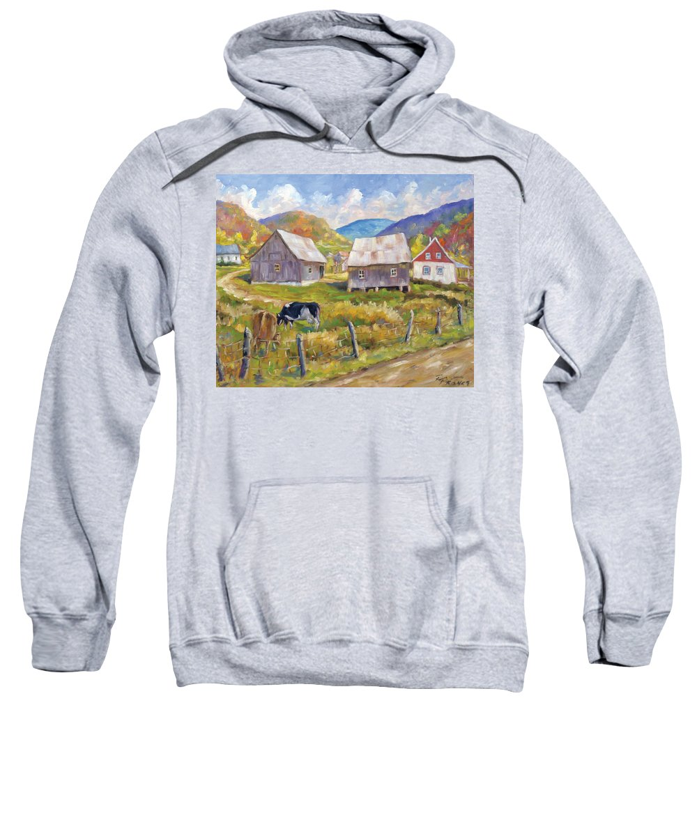 Art Sweatshirt featuring the painting Charlevoix North by Richard T Pranke