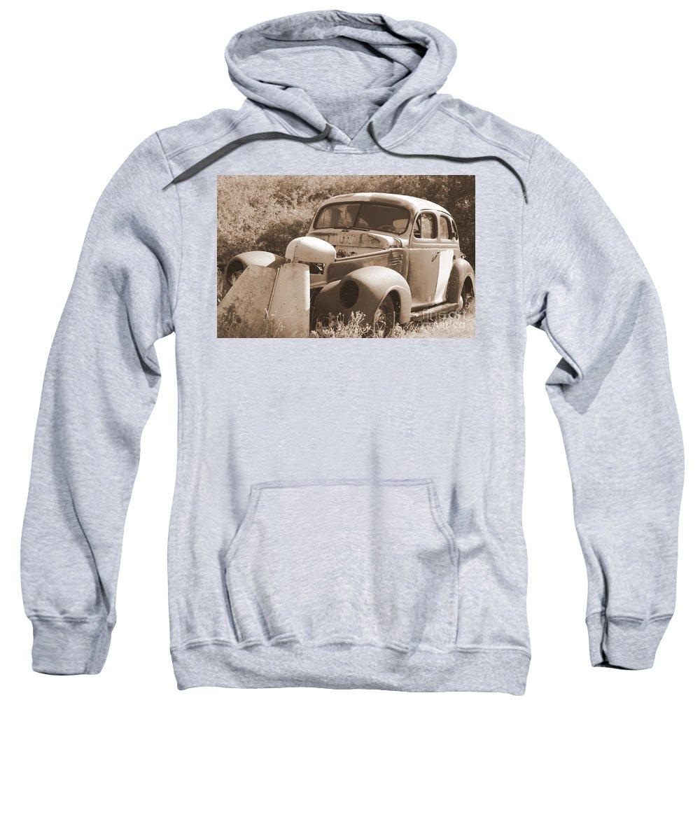 Man Made Sweatshirt featuring the photograph Chevrolet Rust Bucket by Glenn Aker