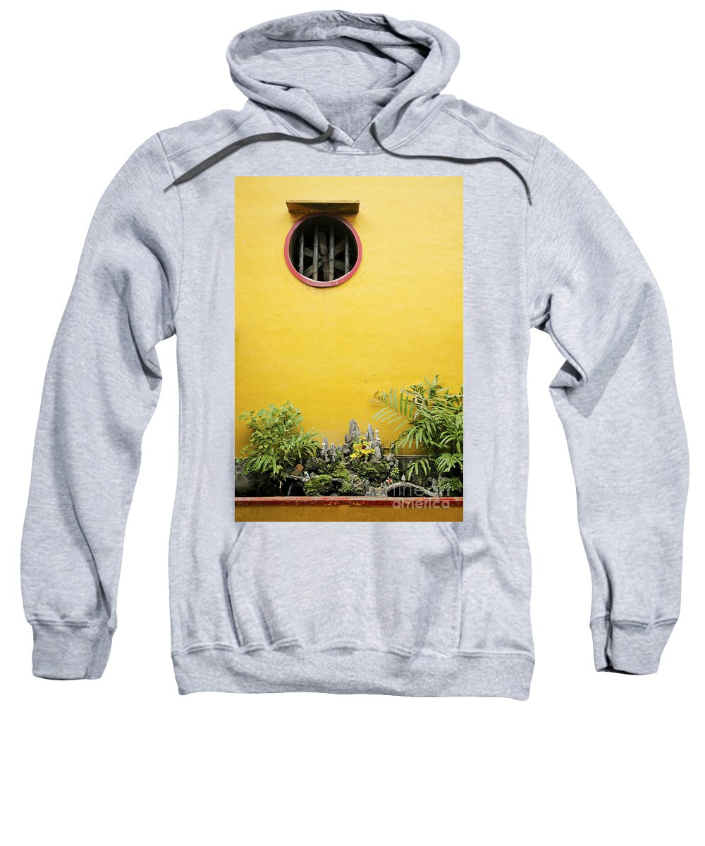 Architecture Sweatshirt featuring the photograph Chinese Temple Garden Detail In Vietnam by Jacek Malipan
