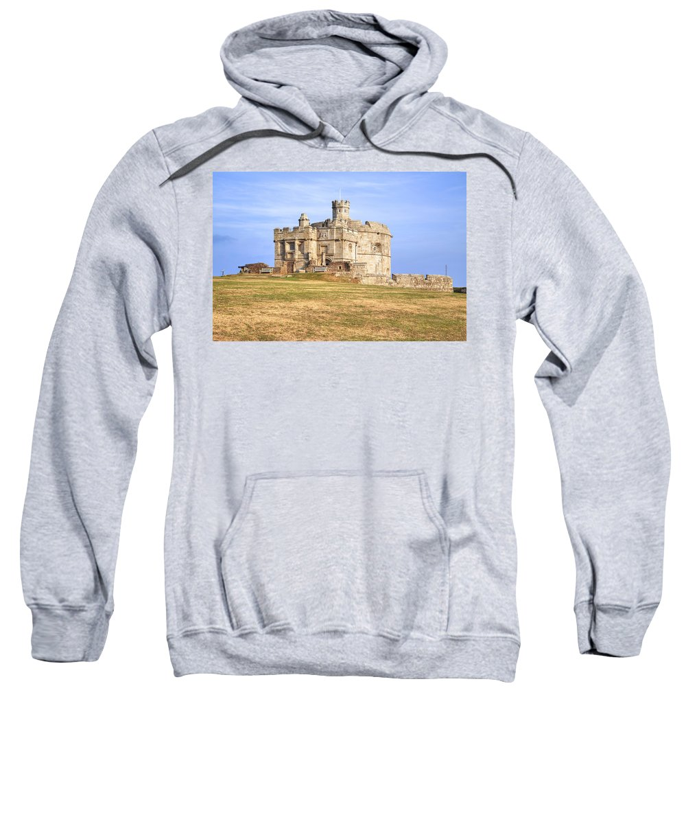 Pendennis Castle Sweatshirt featuring the photograph Cornwall - Pendennis Castle by Joana Kruse