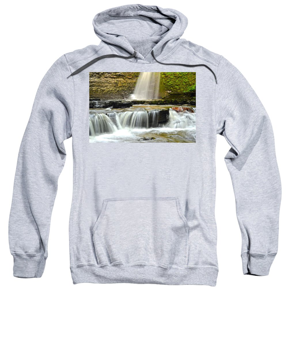 Eagle Sweatshirt featuring the photograph Eagle Cliff Falls by Frozen in Time Fine Art Photography