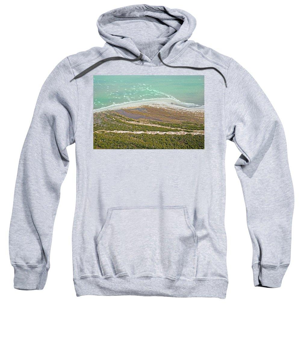 Jekyll Sweatshirt featuring the photograph East Coast Aerial Near Jekyll Island by Betsy Knapp