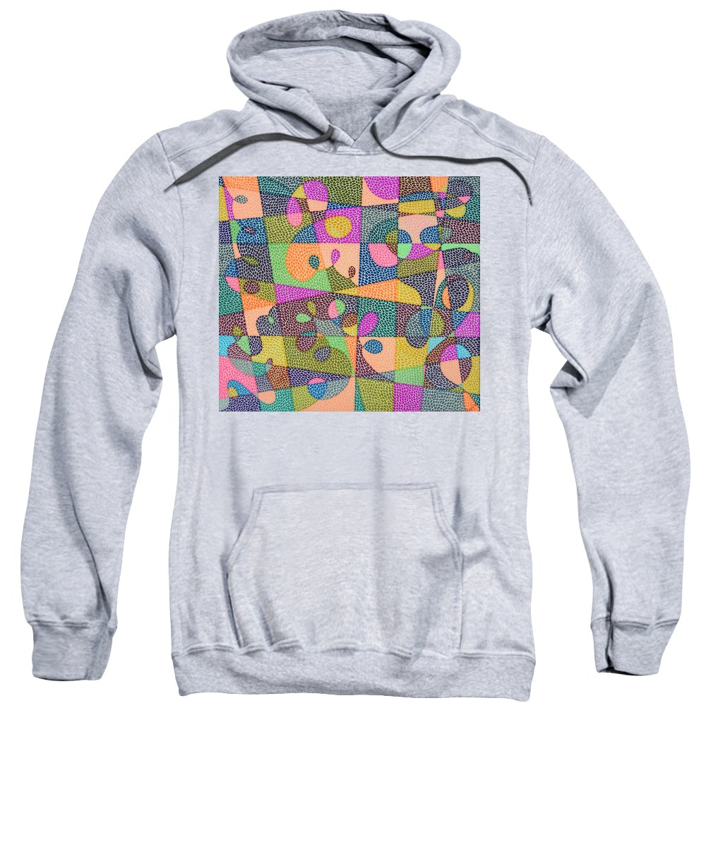 Abstract Sweatshirt featuring the painting In The Loop by Kruti Shah