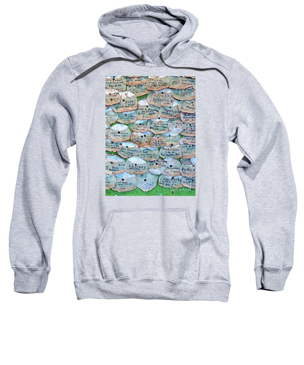 Framed Tarpon Scale Print Sweatshirt featuring the photograph Extinction Wall by Joe Jake Pratt