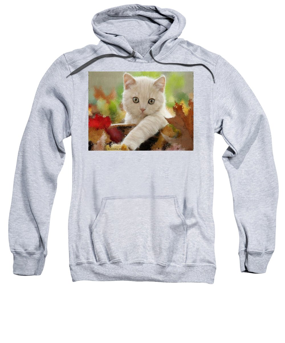 Cat Sweatshirt featuring the painting I Love Kittens by Bruce Nutting