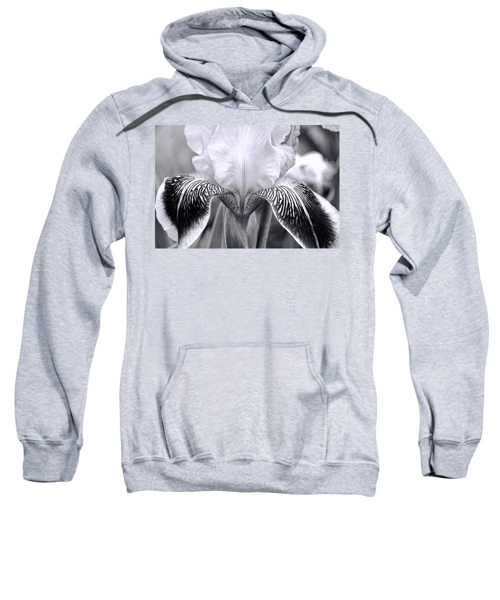 Black And White Photograph Sweatshirt featuring the photograph Iris 11 by Allen Beatty