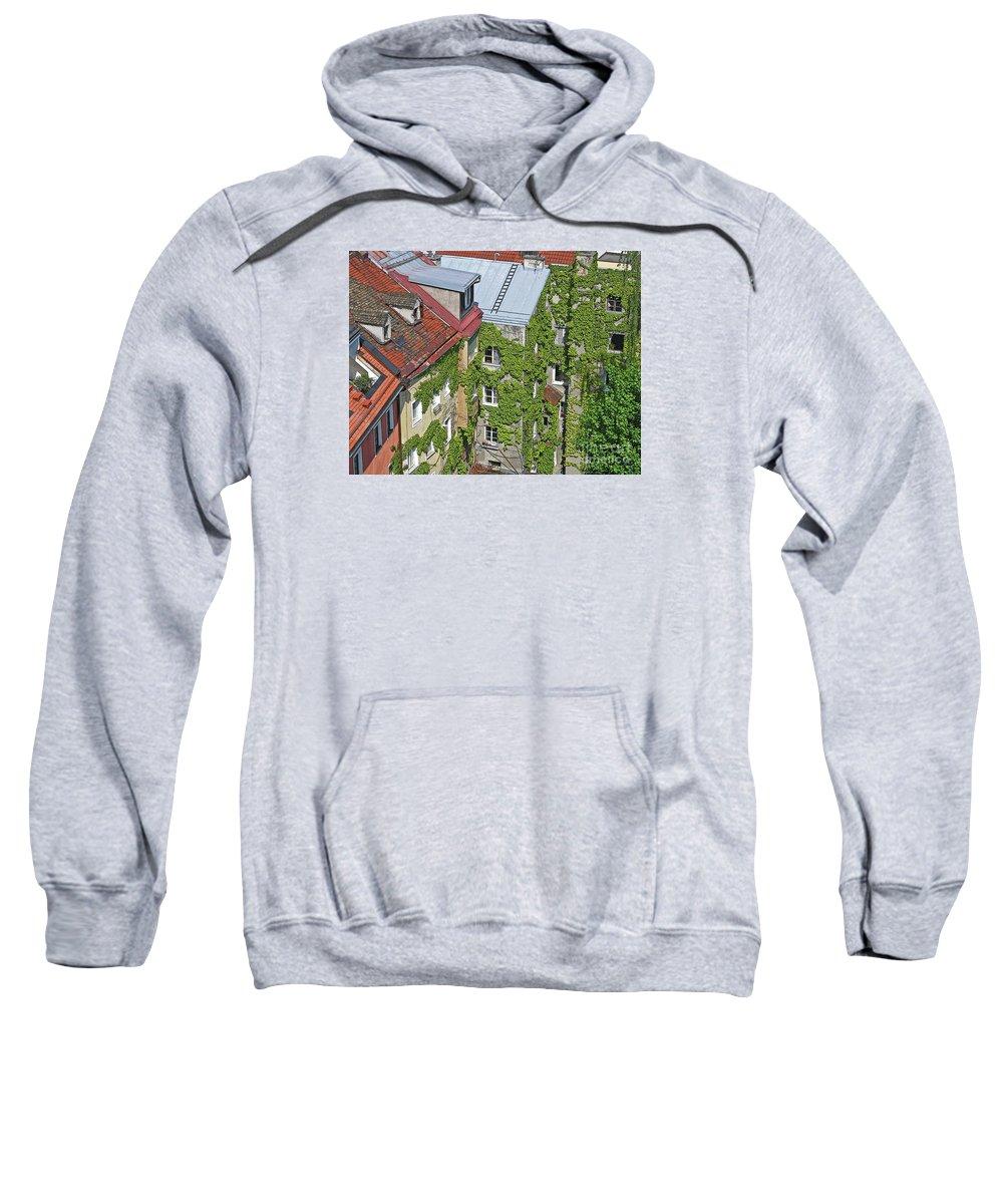 Innsbruck Sweatshirt featuring the photograph Ivy Courtyard by Ann Horn