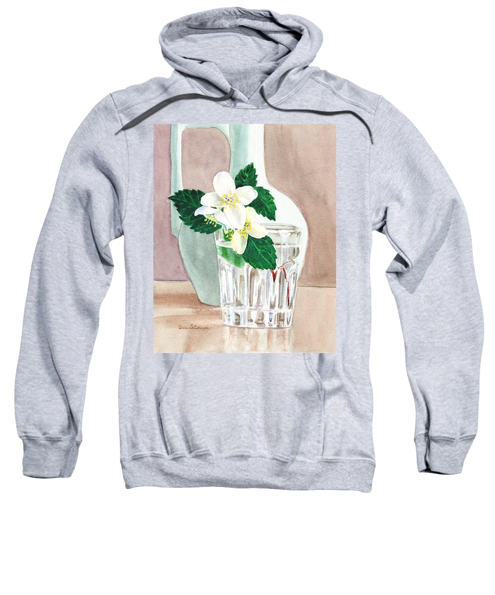 Jasmine Sweatshirt featuring the painting Jasmine by Irina Sztukowski