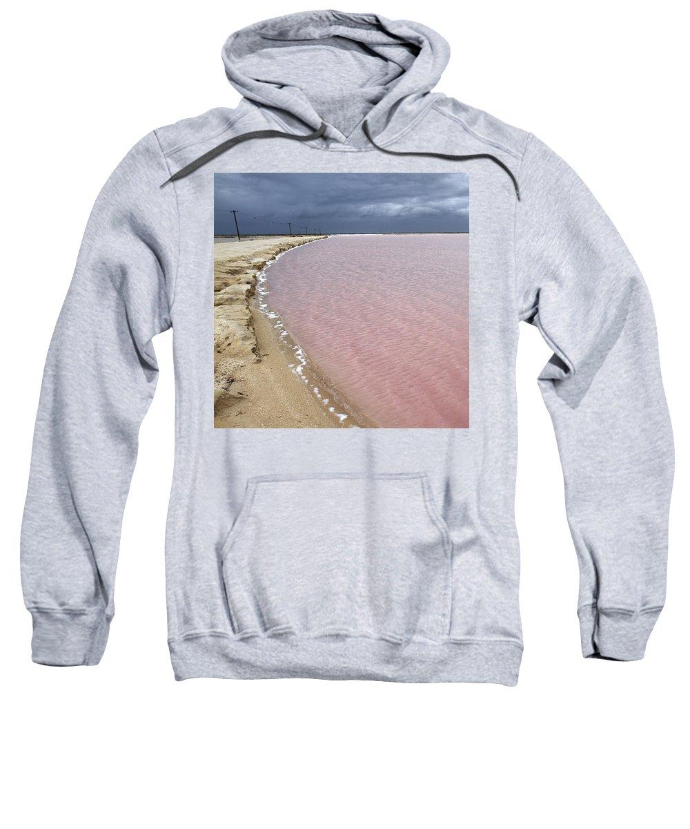 Las Coloradas Sweatshirt featuring the photograph Las Coloradas Salt Flat by For Ninety One Days