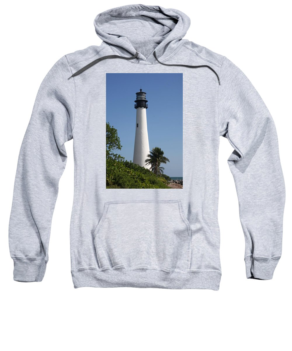 Ligthouse Sweatshirt featuring the photograph Ligthouse - Key Biscayne by Christiane Schulze Art And Photography