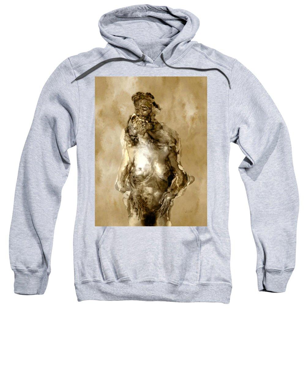 Nude Sweatshirt featuring the photograph Melt by Kurt Van Wagner
