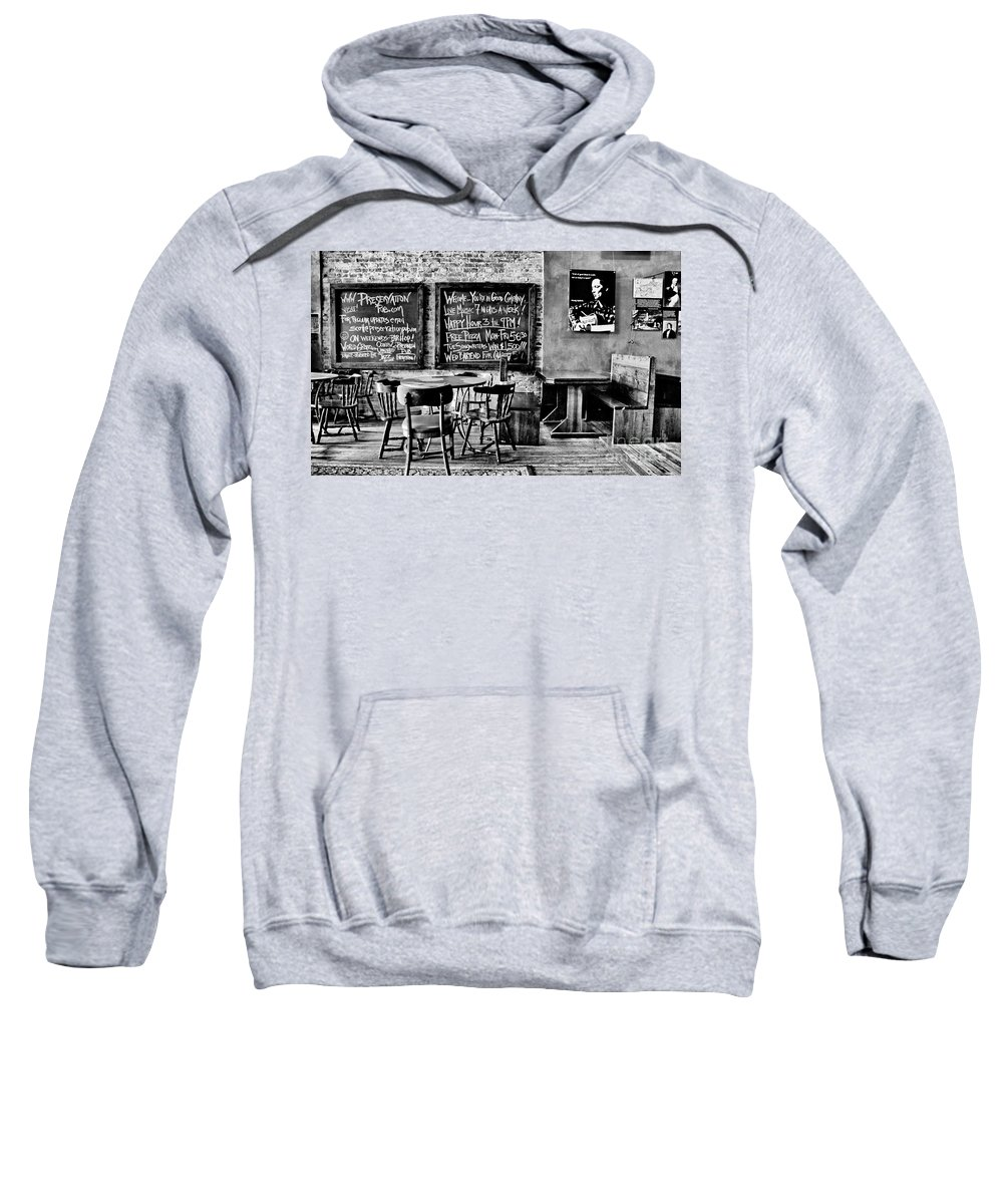 Bar Sweatshirt featuring the photograph Old City Tavern by Paul W Faust - Impressions of Light