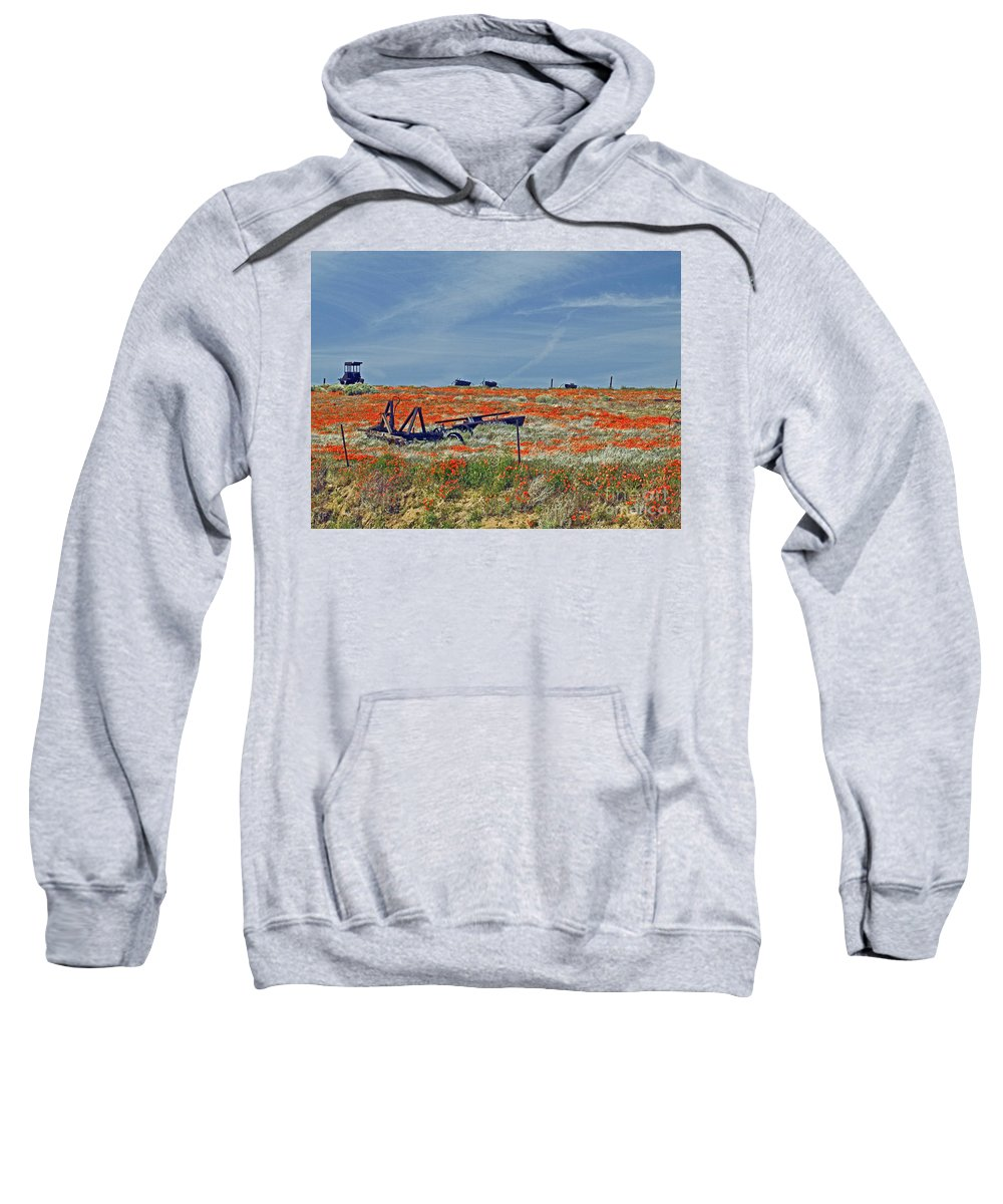 Tractor Sweatshirt featuring the photograph Old Farm Equipment by Howard Stapleton