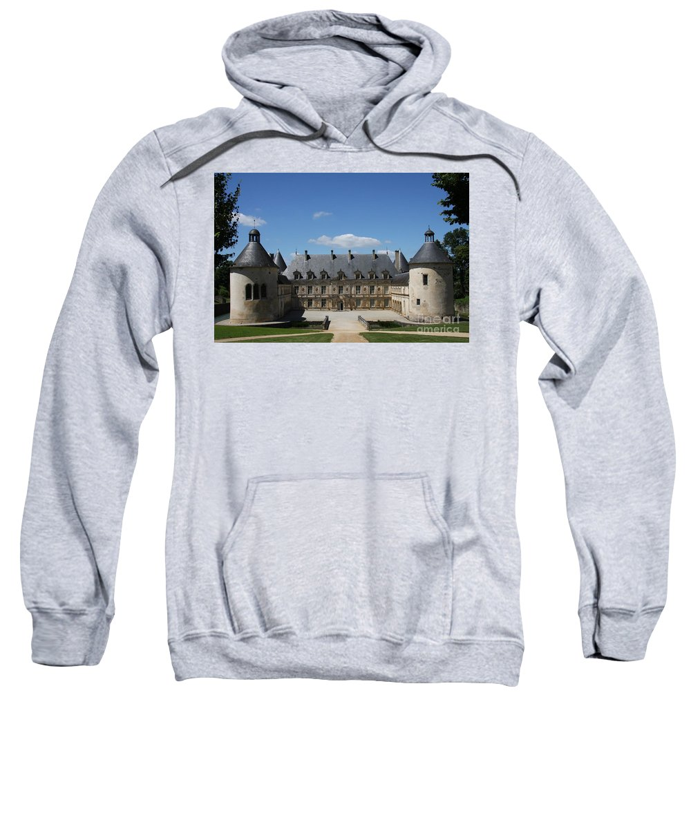 Palace Sweatshirt featuring the photograph Palace Bussy Rabutin - Burgundy by Christiane Schulze Art And Photography