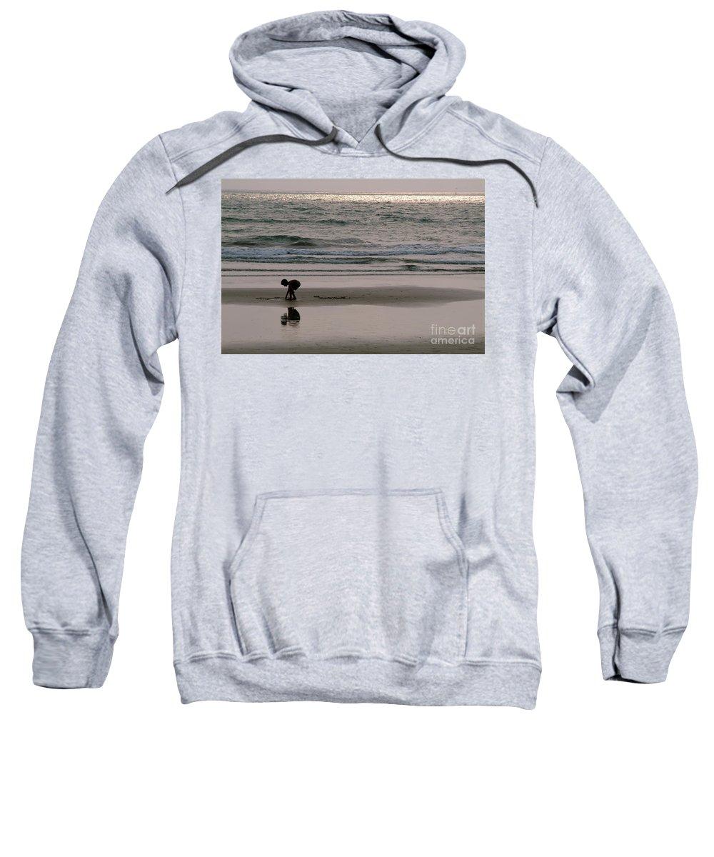 Seashore Sweatshirt featuring the photograph Play by Dattaram Gawade