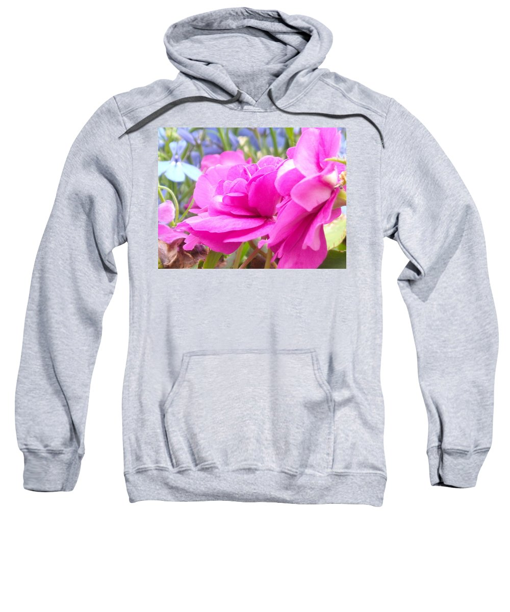 Flower Sweatshirt featuring the photograph Pretty Pink Flower by Line Gagne