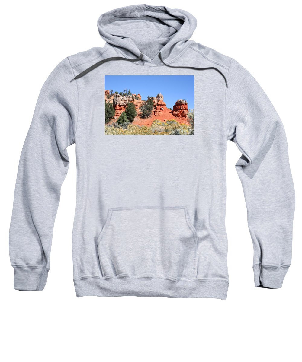Rocks Sweatshirt featuring the photograph Red Canyon - Utah by Christiane Schulze Art And Photography