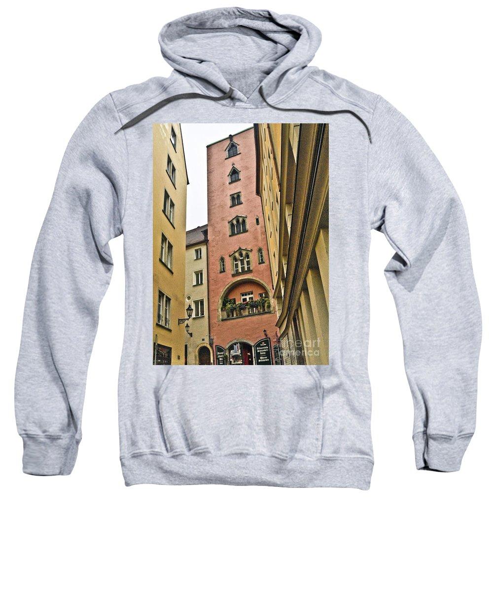 Regensburg Sweatshirt featuring the photograph Regensburg Germany by Howard Stapleton