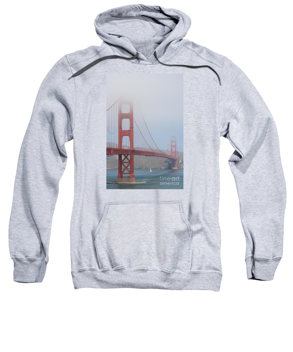San Francisco Sweatshirt featuring the photograph San Francisco - Golden Gate Bridge by Christiane Schulze Art And Photography