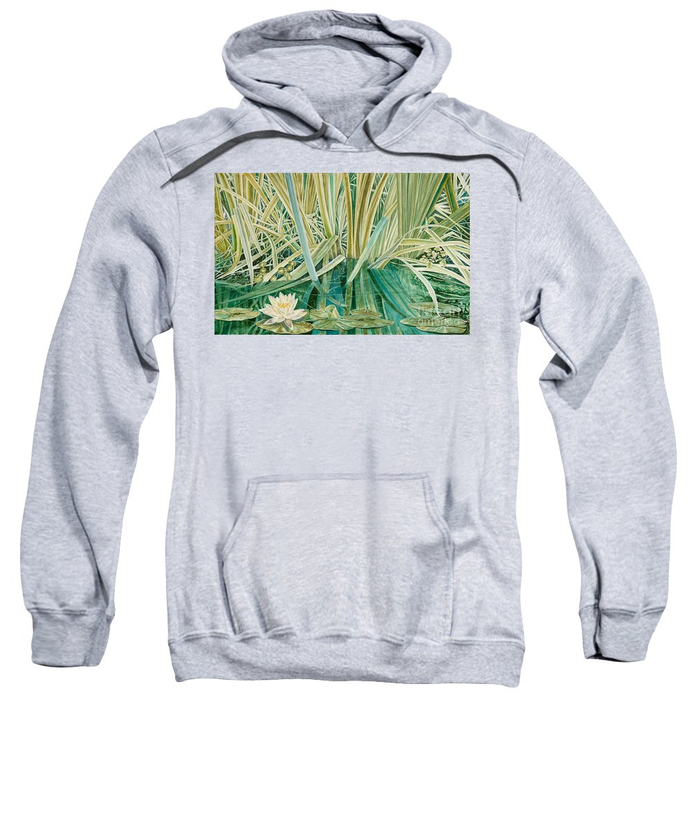 Waterscape Sweatshirt featuring the painting Silent Contempt by John Wilson