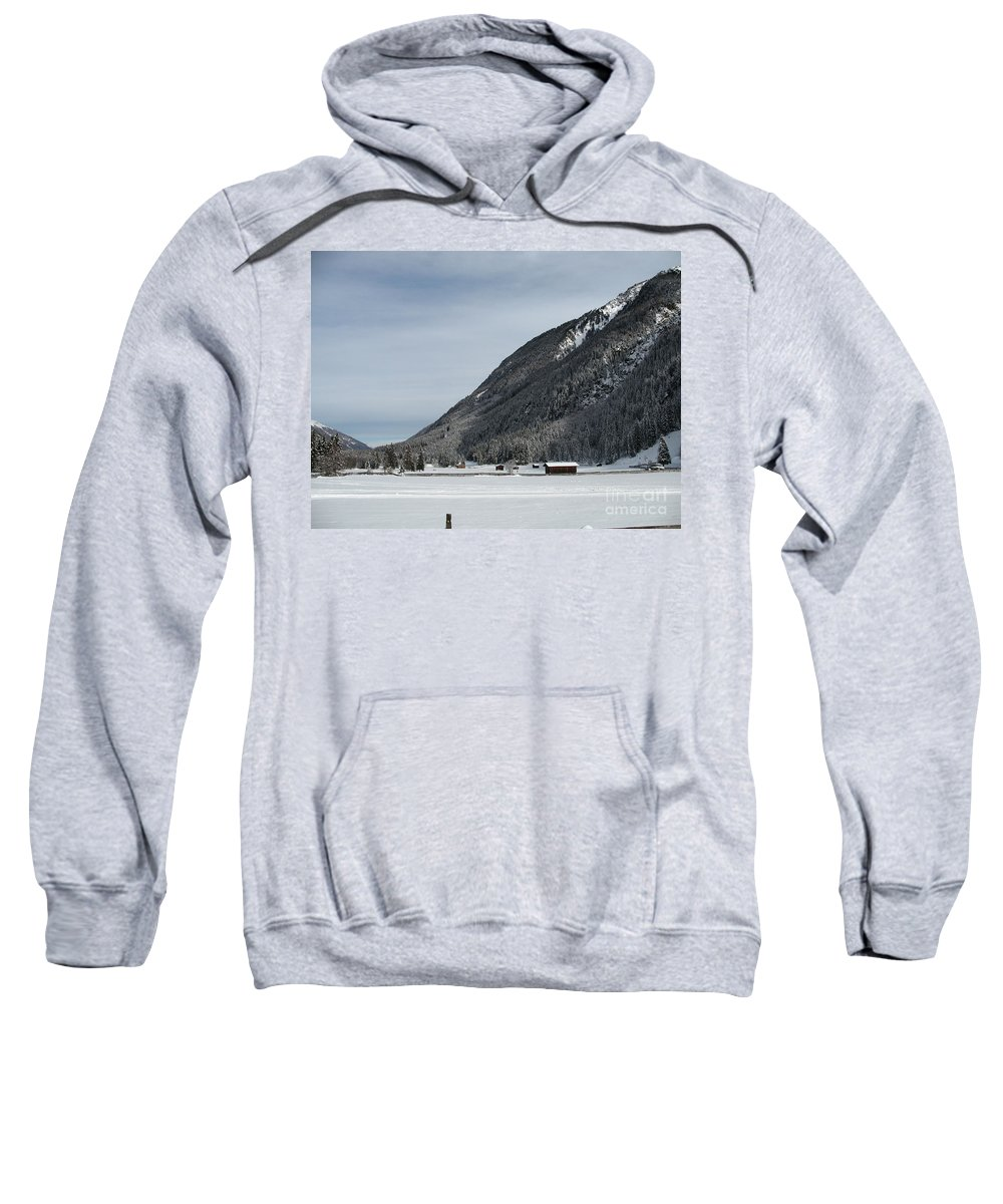 Snow Sweatshirt featuring the photograph Snowy Meadow by Christiane Schulze Art And Photography