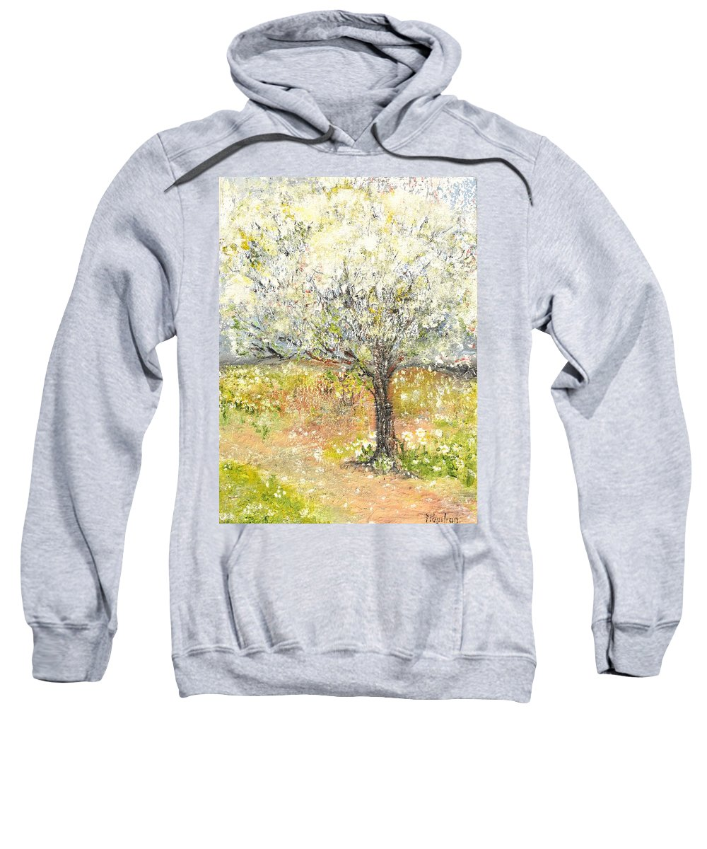 Landscape Sweatshirt featuring the painting Spring by Evelina Popilian